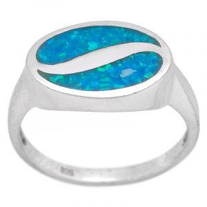 Stříbrný prsten opál Ag 4,5 g