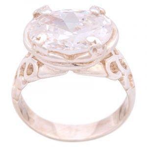 Stříbrný prsten se zirkonem Ag 7,7 g