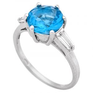 Stříbrný prsten se zirkony Ag 3,0 g