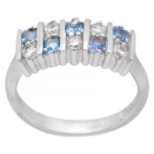 Stříbrný prsten zirkony Ag 4,1 g