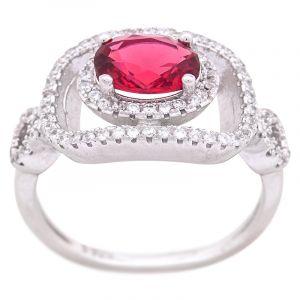 Stříbrný prsten zirkony Ag 4,2 g