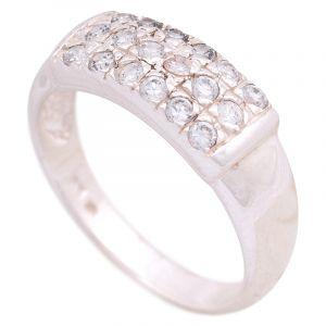 Stříbrný prsten se zirkony Ag 4,3 g