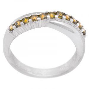 Stříbrný prsten zirkony Ag 4,6 g