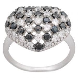 Stříbrný prsten zirkony Ag 5,0 g