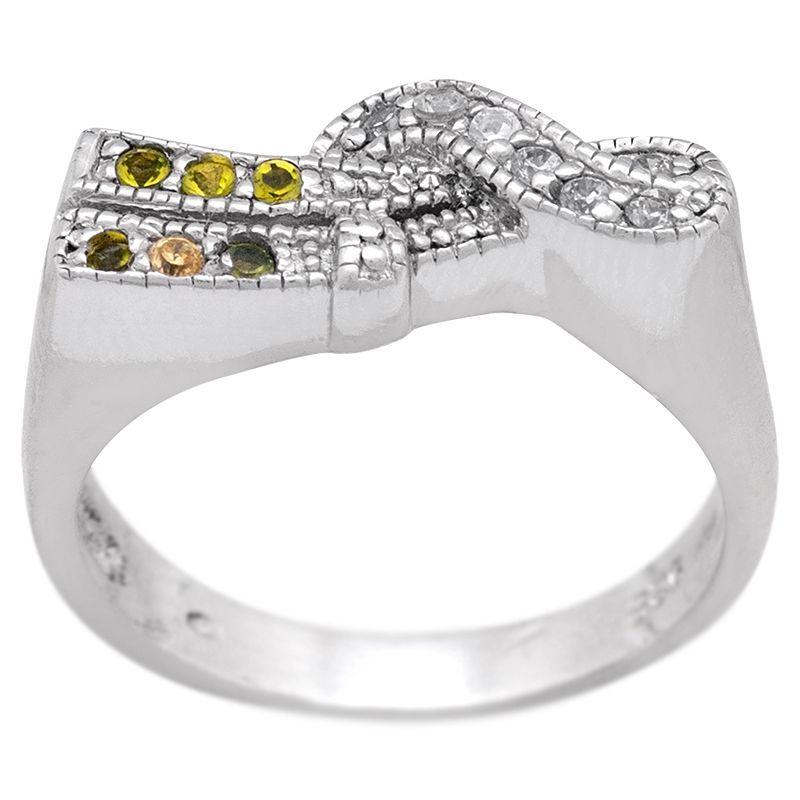 Stříbrný prsten se zirkony Ag 5,2 g vlna