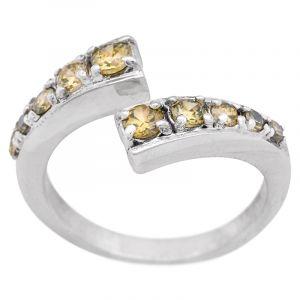 Stříbrný prsten zirkony Ag 5,4 g open