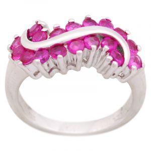 Stříbrný prsten zirkony Ag 5,4 g