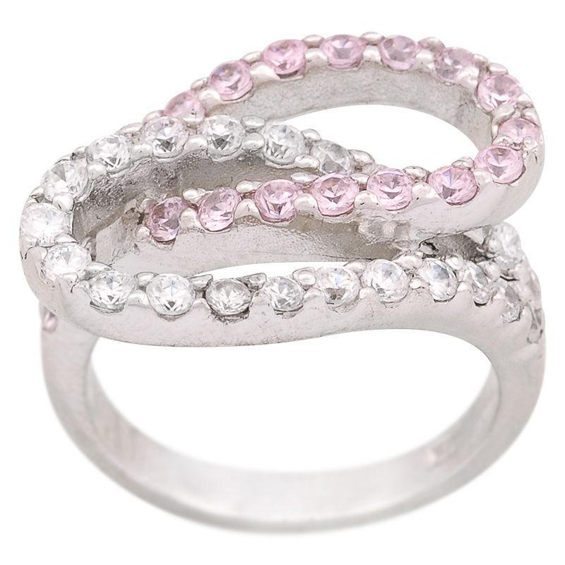 Stříbrný prsten se zirkony Ag 6,8 g loop   SoNo spol. s r.o.