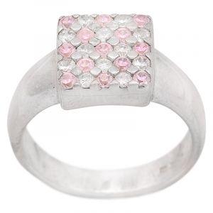 Stříbrný prsten zirkony Ag 6,8 g