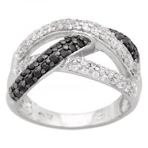 Stříbrný prsten zirkony Ag 7,2 g
