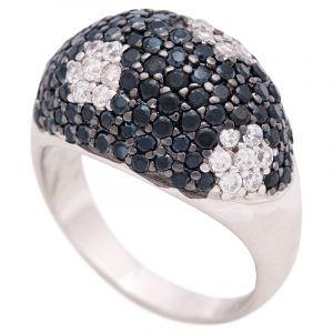 Stříbrný prsten se zirkony Ag 8,1 g