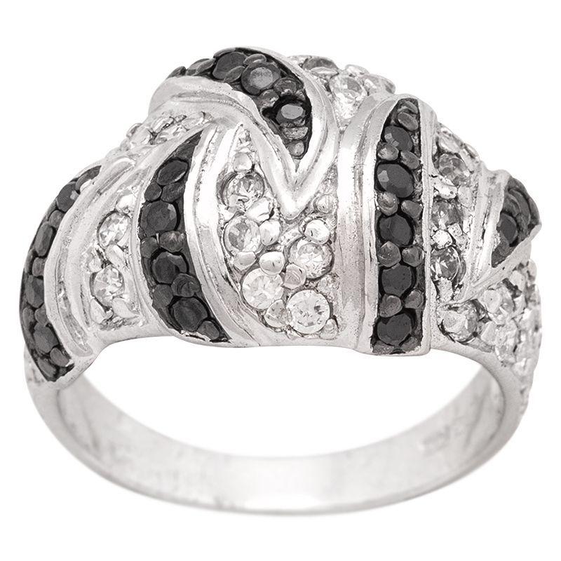 Stříbrný prsten se zirkony Ag 8,5 g