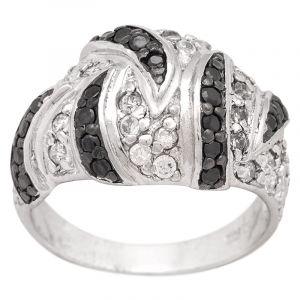 Stříbrný prsten zirkony Ag 8,5 g