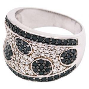Stříbrný prsten se zirkony Ag 8,8 g